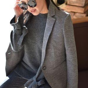 NWOT ANN TAYLOR | wool gay career blazer coat 4 S